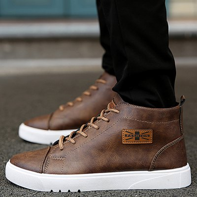 Appliqued Lace Up Vintage Casual Shoes