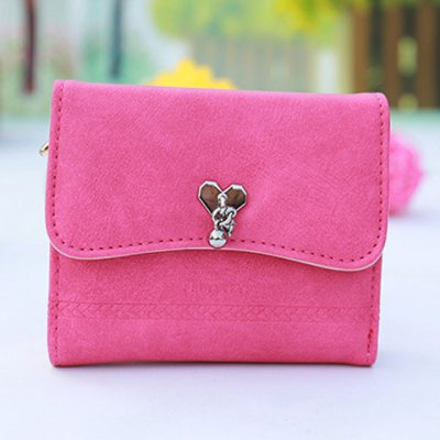 Heart PU Leather Small Wallet