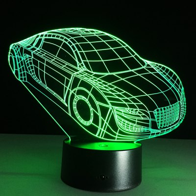 Small Car Shape Touch Colorful Night Light