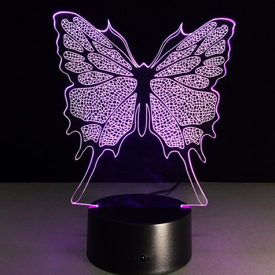 3D Festival Butterfly Shape Touch Colorful Night Light