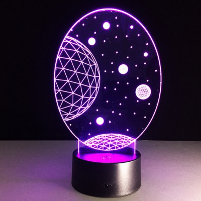 Galaxy Shape Touch Colorful Night Light