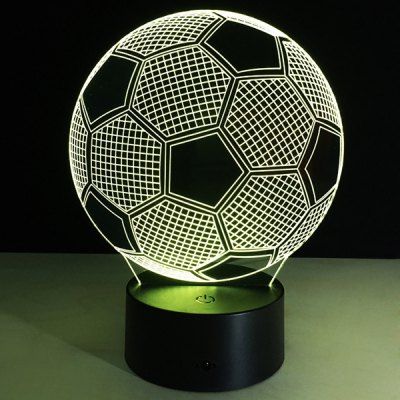 Football Shape Touch Colorful Night Light