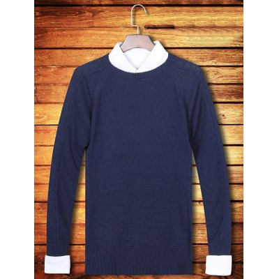 Knitting Crew Neck Long Sleeve Sweater