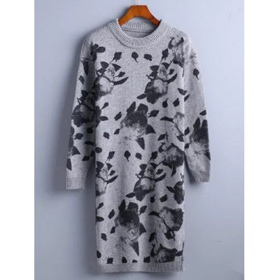 Chinese Painting Sweater Dress