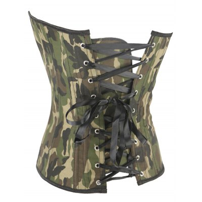 Camo Lace Up Steel Boned Corset