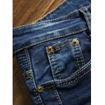 Zippered Scratched Rib Paneled Biker Jeans for sale