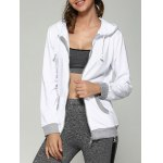 Color Block Drawstring Hoodie With Pockets