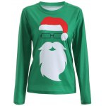 Santa Claus Pattern Christmas T-Shirt