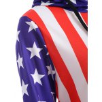 Raglan Sleeves American Flag Print Hoodie for sale