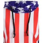 Raglan Sleeves American Flag Print Hoodie deal