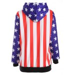 cheap Raglan Sleeves American Flag Print Hoodie