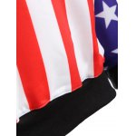 Raglan Sleeves American Flag Print Hoodie photo