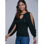 cheap Cape Sleeve Cut Out Blouse
