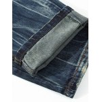 best Button Fly Scratched Five-Pocket Ripped Jeans