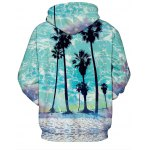 cheap Front Pocket Beach Palm Hoodie