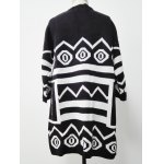 cheap Two-Toned Striped Knitted Cardigan
