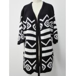 Two-Toned Striped Knitted Cardigan