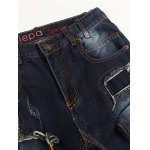 05 Print Applique Broken Hole Jeans deal