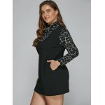 Long Sleeve Geometric Plus Size Mini Dress deal