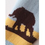 Elephant Tree Jacquard Pullover Sweater photo