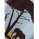 Elephant Tree Jacquard Pullover Sweater for sale