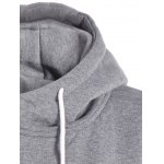 Inclined Zipper Drawstring Plus Size Hoodie deal