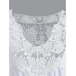 Plus Size Lace Patchwork Openwork Dress deal