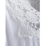 Plus Size Lace Patchwork Openwork Dress for sale