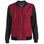 Zipper Design Padded Jacket