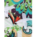 Colorful Printed Steel Boned Corset photo