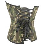 Camo Lace Up Steel Boned Strapless Corset Top deal