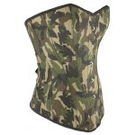 cheap Camo Lace Up Steel Boned Strapless Corset Top