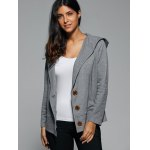 Hooded Button Up Coat deal