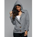 Hooded Button Up Coat for sale