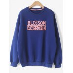 Crew Neck Blossom Awesome Patch Sweatshirt
