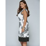 Sleeveless Cut Out Plus Size Print Dress deal