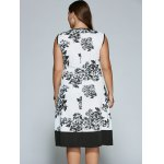 Sleeveless Cut Out Plus Size Print Dress for sale