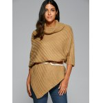 Cowl Neck Poncho Sweater for sale