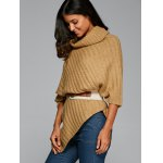 Cowl Neck Poncho Sweater photo