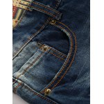 Broken Hole Design Straight Leg Jeans for sale