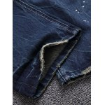 best Patch Design Five-Pocket Scratched Ripped Jeans