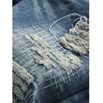 best Frayed Stitching Zipper Fly Ripped Jeans