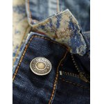 Frayed Stitching Zipper Fly Ripped Jeans deal