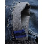 Patch Straight Frayed Jeans for sale