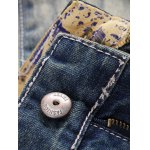 Vintage Style Broken Hole Straight Jeans deal