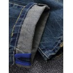 Vintage Style Broken Hole Straight Jeans for sale