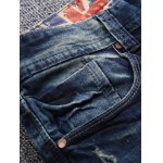 cheap Broken Hole Patch Design Jeans