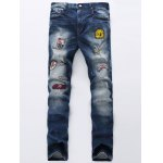 Broken Hole Patch Design Jeans