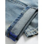 Patch Design Ripped Light Jeans for sale