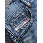 cheap Frayed Stitching Scratched Zipper Fly Ripped Jeans